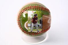 Beautiful customized baseball for your baseball player, only at Make A Ball.
