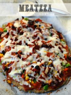 Meatzza  - Healthy Upgrade with Herbs & Spices - Low carb and soooo good!!