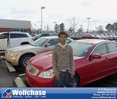 #HappyAnniversary to Elpedro Parker on your 2008 #Infiniti #G35 Sedan from Albert Brown at Wolfchase Chrysler Jeep Dodge!