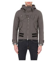 THE SOLOIST Hooded cotton jacket