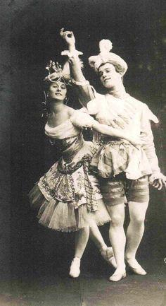 "Анна Павлова и Вацл Анна Павлова и Вацлав Нижинский в балете ""Павильон Армиды"" 1909"
