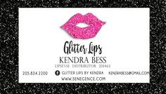 LipSense Business Card - Glitter Lips Design by BessKnowsBest on Etsy