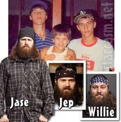 Duck Dynasty Jase, Jep and Willie Robertson before the beards photo ...