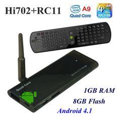 RC11 Fly Air Mouse+CX 919 Quad Core Android TV Box Mini PC RK3188 1.65 GHz Quad Core ARM Cortex A9 XBMC External Wifi Antenna-in Set-top Box...