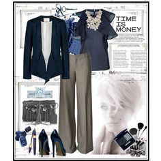 time is money, created by ana2cats on Polyvore