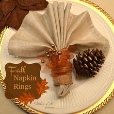 Gorgeous and easy DIY Fall Napkin rings!