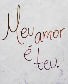 Nunca falei que te amo porque achei que você sabia que te amo...