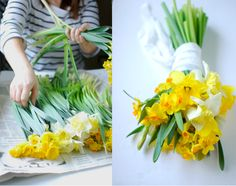 daffodils....they make great arrangements and last a long time!