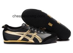 Mens Asics Mexico 66 Shoes Yellow Black Golden  #onitsukatiger