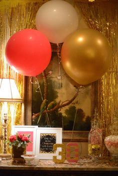 Pink, Gold, and Old 30th birthday party with Lots of Fabulous Ideas via Kara's Party Ideas | Cake, decor, desserts, cupcakes, games, and mor...
