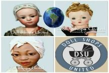 We love dolls at Doll Shops United. Dolls are enjoyed the world over. This board showcases dolls from all parts of the globe. They will be made in the country listed, or represent the country. It's A Small World After All! http://www.dollshopsunited.com/ ~Enjoy~