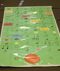 This is a great game board that can be used for multiple levels of rhythmic discovery. It's easy and inexpensive to make, and will last for ...
