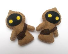 Felt Star Wars ornament - Jawa felt ornaments - Star wars - SW - Christmas/Housewarming home decor - May4th - pinned by pin4etsy.com
