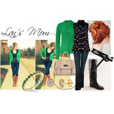 """The perfect combination: Kelly green and navy. """"Outfit"""" by lansmom1 on Polyvore"""