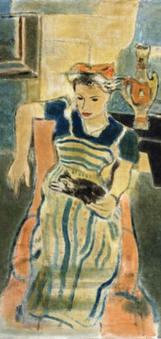 ERIC ISENBURGER (1902–1994), 1939, Girl with a Cat (detail)