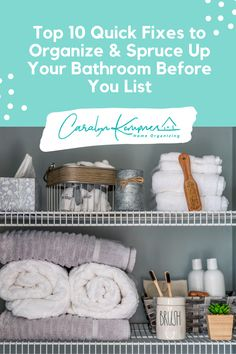 Top 10 Quick Fixes to Organize & Spruce Up Your Bathroom Before You List! Bathroom closet organization, bathroom closet ideas, organizing bathroom closet, small bathroom closet, bathroom closet door ideas, bathroom closet shelves, bathroom closet storage, bathroom closet remodel, bathroom closet shelving ideas, diy bathroom closet, bathroom closet makeover, how to organize your bathroom closet, modern bathroom closet. #bathroomclosetorganization #bathroomclosetideas #diybathroomcloset Bathroom Closet Organization, Home Organization Hacks, Organizing, Closet Shelving, Closet Storage, Shelves, Closet Remodel, Remodel Bathroom, Modern Bathroom