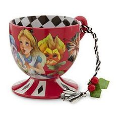 Alice in Wonderland Tea Cup Ornament - The Cheshire Cat | Alice in Wonderland Home Decor Collection | Disney Store: