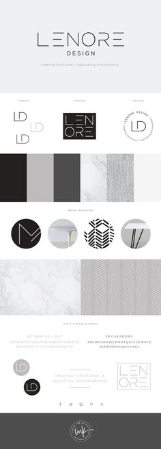 Brand Launch: Lenore Interior Design - Salted Ink Design Co. | logo, brand, branding,… - #restaurant #restaurante #bar