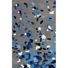 Found it at AllModern - Cine Grey / Blue Splatter Rug