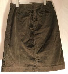 48236eff86 J Crew Womens 2 Brown Corduroy Cotton Skirt A Line Pockets Below Knee 28  Waist #
