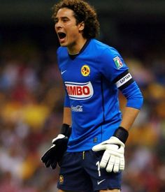 Guillermo Ochoa. I don't really care about soccer, but I saw this guy and must admit he's a very good goalie.