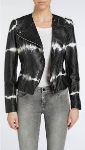 Black and White Tie Dye Jacket