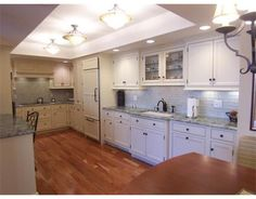 1000+ images about Remodel  Kitchen on Pinterest  Green cabinets, Mosaic wall tiles and Can lights