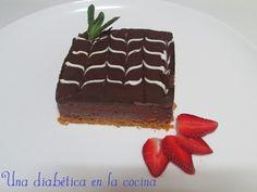 Una diabética en la cocina: Tarta de queso y chocolate apta para diabéticos Diabetic Recipes, Healthy Recipes, Cupcakes, No Sugar Foods, Queso, Sugar Free, Healthy Life, Low Carb, Eat