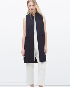 Image 1 of LONG TAILORED WAISTCOAT from Zara