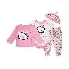 Hello Kitty Newborn & Infant Girl's 4-Piece Layette Set