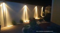 Sichtschutzwand mit Beleuchtung