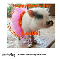 Happy Boss's Day To Someone Who Loves Pigs.
