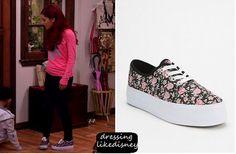Dressing Like Disney: Sam & Cat: Season 1 Episode 2 BDG Floral Canvas Platform Sneaker