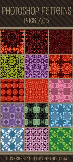 Photoshop Patterns - Pack 05 by punksafetypin.deviantart.com on @deviantART