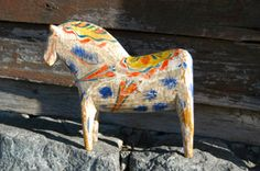 antique swedish Dala horse