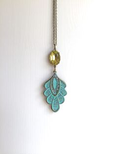 A personal favorite from my Etsy shop https://www.etsy.com/listing/234289731/the-jenny-necklace-ft-light-turquoise