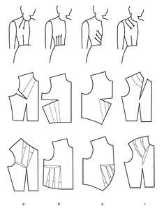 Love the double French dart. Add to pattern with the curve and keep for later reference Cut Up Shirts, Rock Shirts, Blouse Patterns, Clothing Patterns, Sewing Patterns, Sewing Clothes, Diy Clothes, One Direction Shirts, Patron Vintage