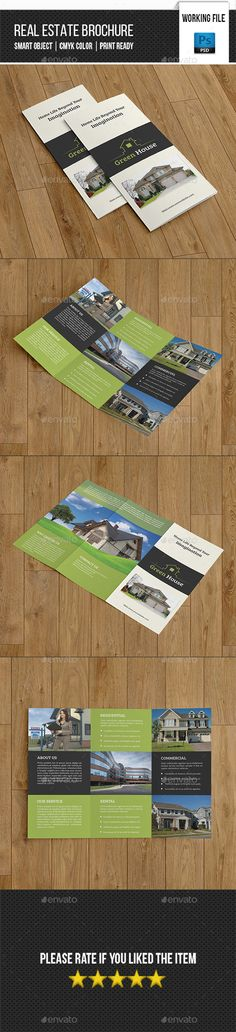Real Estate Trifold Brochure Template PSD #design Download: http://graphicriver.net/item/real-estate-trifold-brochurev263/13385172?ref=ksioks
