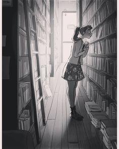 Black and white version of an @yaoyaomva illustration.