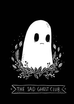 Hey ghosts, I've finally made some Sad Ghost Club tees, they're available for pre-order at the moment, I'm going to be doing a very small run so chances are there won't be any left after pre-orders...