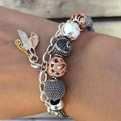 [New] The 10 All-Time Best Ideas Today (with Pictures) - Shop this look now! -Combi: Charms Karma Beads Shop the look in our bio pic by Diy Jewelry, Jewelry Accessories, Handmade Jewelry, Fashion Jewelry, Jewelry Making, Jewellery, Pandora, Bead Shop, Thomas Sabo