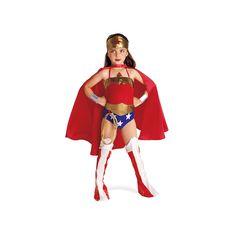 DC Comics Justice League Wonder Woman Costume - Kids, Size: Large, Red