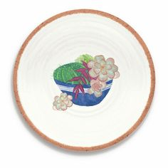 Rio Succulents Set of 4 Salad Plates by Tar Hong Melamine Dinnerware, Dinnerware Sets, Plates And Bowls, Salad Plates, Serving Dishes, Dinner Plates, Rio, Beach House, Succulents