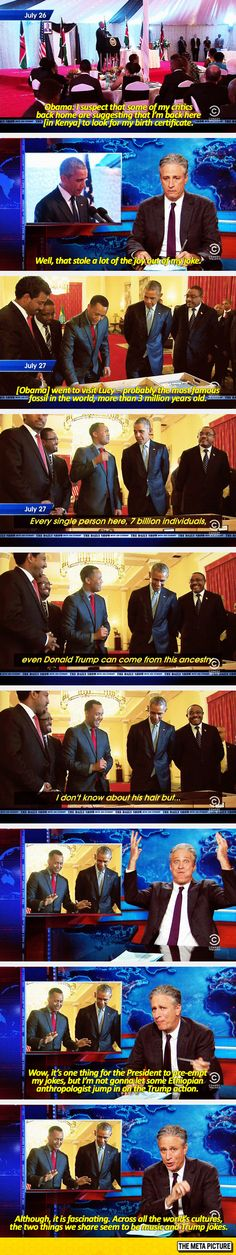 Jon Stewart Has His Trump Punchlines Taken From Him