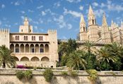 "Palma de Mallorca - beautiful island, Seo Cathedral and Bellver Castle, windmills and manor house in the verdant countryside, Drach Caves, former Carthusian monastery in Valldemosa, where George Sand and Chopin spent a winter; local smoked ham,  frito mallorquin (lamb, onions, vegetables, potatoes and peppers fried in olive oil and spices); visit a ""cave"" serving family-style meals where wine is poured from a cask.  Buy famous Majorica pearls, fine Spanish leather goods and olive…"