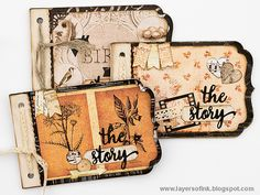 Quick Vintage Notebooks Sizzix tutorial by Anna-Karin Evaldsson. These make great teacher's gifts, but can be for any occasion. Papers by Prima Flowers.