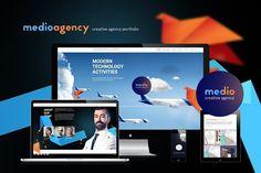 Medio-Agency super parallax effect!!. Script Fonts