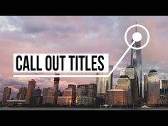 Advanced Call Out Titles in After Effects - YouTube