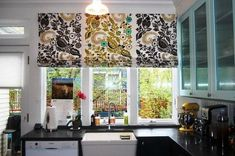 New Contemporary Kitchen Curtain Ideas   DIY Marvelous Kitchen Curtains  Valances Ideas   Kitchen   503