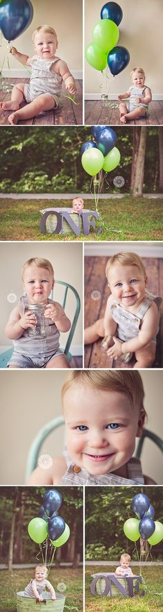 One Year Old Boy Photo Session | from More Than Rubies Photography